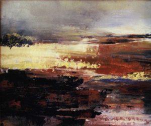 Bog of Allen oils on board by Vincent Sheridan 70s