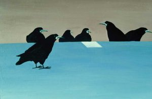 Road Rooks watercolour by Vincent Sheridan1970s