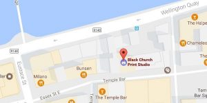 Black Church Print Studio Dublin map