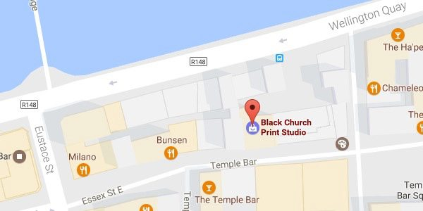 Black Church Print Studio Dublin map