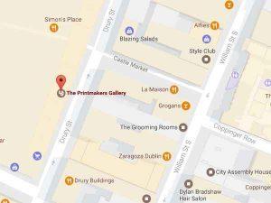 Printmakers Dublin Map