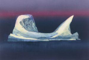 Arctic Berg mono print Vincent Sheridan 1990s