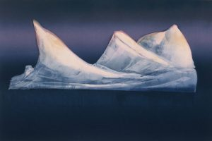 Arctic Berg monoprint by Vincent Sheridan 1990s