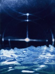 Arctic Suns etching by Vincent Sheridan 1990s