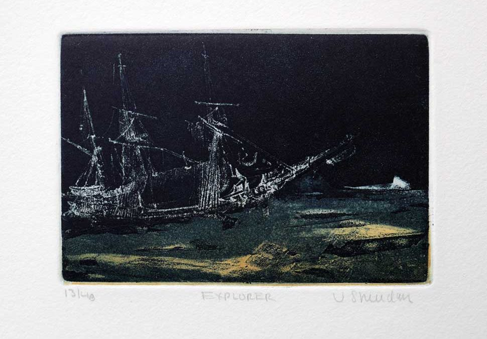 Explorer etching by Vincent Sheridan