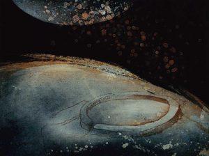 Genesis etching by Vincent Sheridan 1999