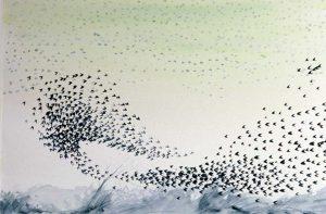 Murmurarion watercolour by Vincent sheridan1970s