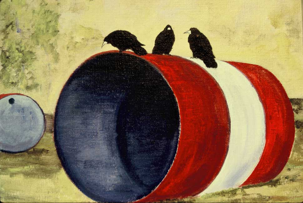 Rooks series oils on canvas by Vincent Sheridan1970s
