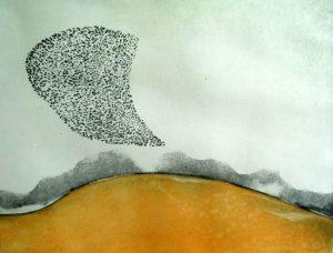 Vincent Sheridan print etching Autumn Field