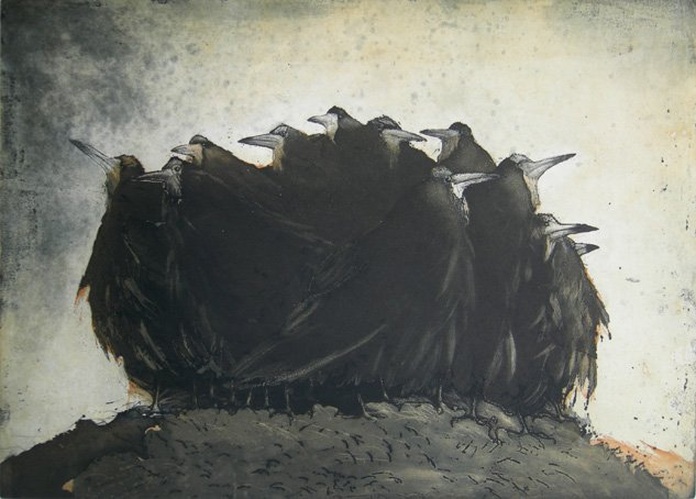 Vinent Sheridan print etching Anticipation