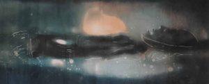 Arctic Mummy monoprint by Vincent Sheridan